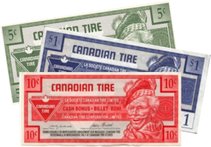 Can Tire money